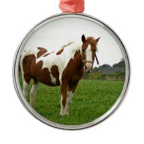 Aquebogue Painted Horse Metal Ornament
