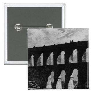 Aqueduct at Rio 2 Inch Square Button