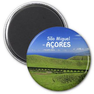 Aqueduct - Azores islands 2 Inch Round Magnet