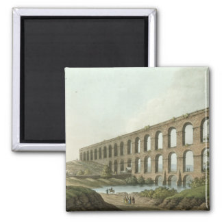 Aqueduct near Belgrade, Serbia, plate 6 from 'View 2 Inch Square Magnet