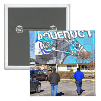 Aqueduct Racetrack on New Year's Day Pins