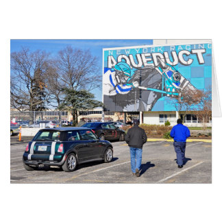 Aqueduct Racetrack on New Year's Day Card