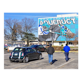 Aqueduct Racetrack on New Year's Day Postcard