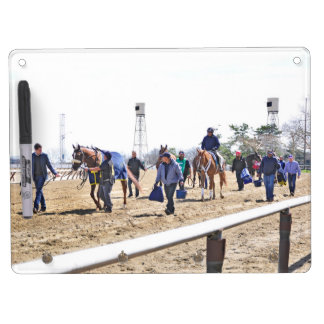Aqueduct's Top Horses heading to the Paddock Dry Erase Board With Keychain Holder