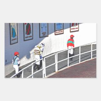 Aqueduct's Top Jockeys heading to the Paddock Rectangular Sticker