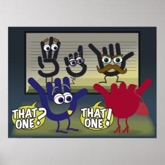 ¡Aquél! Un cartel de la sala de clase del ASL Póster