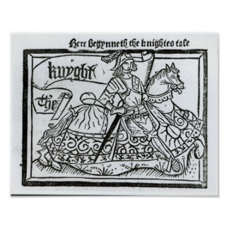 """Aquí Begynneth el Knightes Tale Póster"