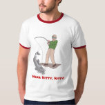 Aquí camiseta de Catfishing del gatito