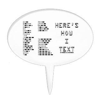 Aquí es cómo texto de I (el código Morse Decoraciones Para Tartas