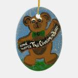 Aquí es el oso de canela ornamento de reyes magos