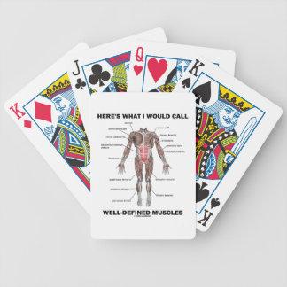 Aquí es lo que llamaría los músculos bien baraja de cartas