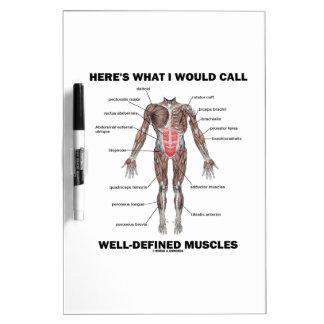 Aquí es lo que llamaría los músculos bien definido tablero blanco