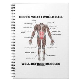Aquí es lo que llamaría los músculos bien definido libretas espirales