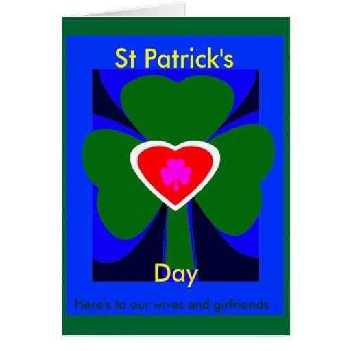 Aquí está al día UCreate de nuestro St Patrick de Tarjeta De Felicitación