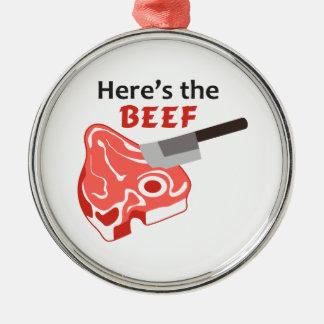 Aquí está la carne de vaca ornamento de reyes magos