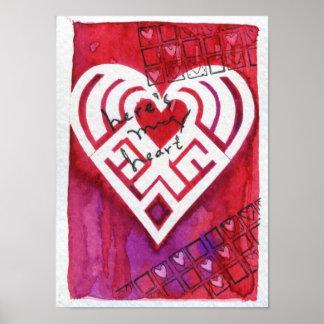 Aquí está mi tarjeta del día de San Valentín de la Póster