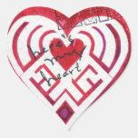 Aquí está mi tarjeta del día de San Valentín de Calcomanía De Corazón
