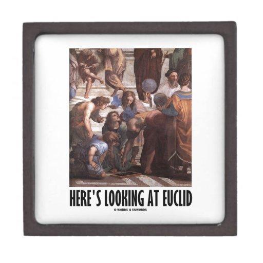 Aquí está mirando Euclid (la pintura del humor del Caja De Regalo De Calidad