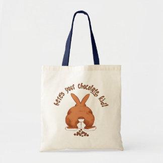Aquí está su chocolate niño bolsa de mano