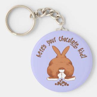 Aquí está su llavero del chocolate