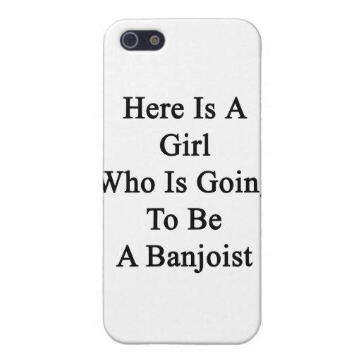 Aquí está un chica que va a ser Banjoist iPhone 5 Protectores