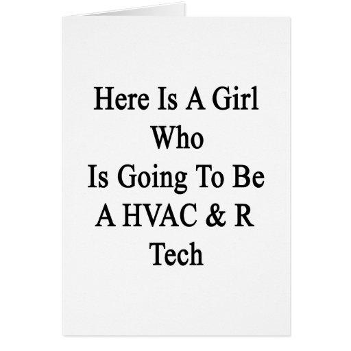Aquí está un chica que va a ser una tecnología de  tarjetas