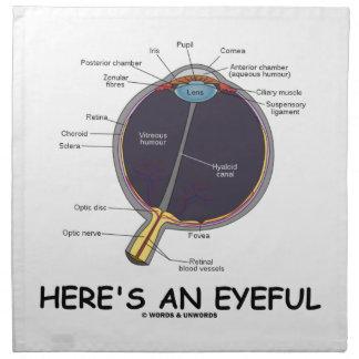 Aquí está un Eyeful (el humor de la anatomía del o Servilleta De Papel
