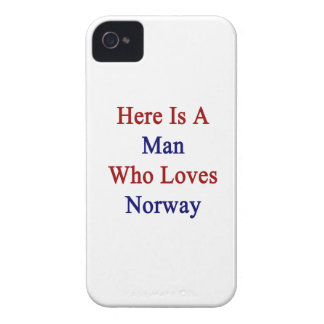 Aquí está un hombre que ama Noruega iPhone 4 Fundas