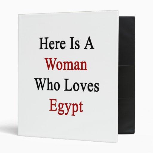 """Aquí está una mujer que ama Egipto Carpeta 1"""""""