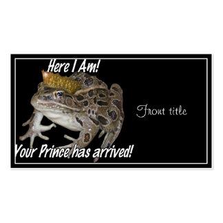 ¡Aquí estoy! ¡Su príncipe Has Arrived! Tarjetas De Visita