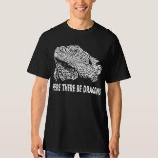 Aquí haya dragones, dragón barbudo polera