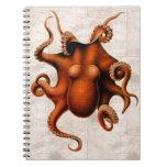 Aquí haya monstruos spiral notebook