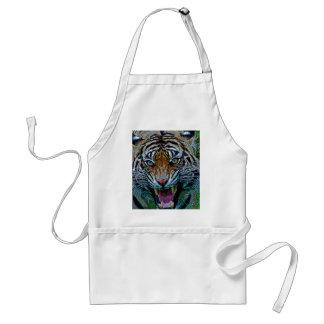 Aquí le está mirando tigre delantal