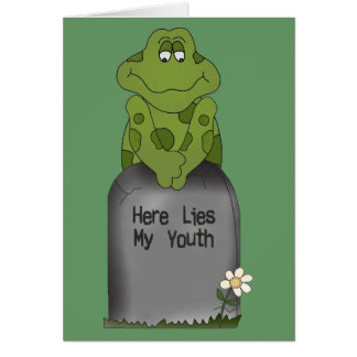 Aquí miente mi juventud tarjeta de felicitación