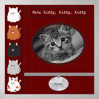 Aquí página del libro de recuerdos del gatito poster