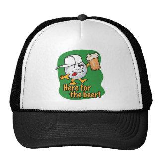 Aquí para el golfista del dibujo animado de la cer gorro