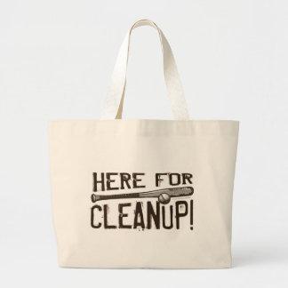 ¡Aquí para la limpieza! Bolso Bolsa De Tela Grande