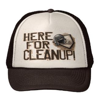 Aquí para la limpieza gorro de camionero