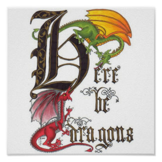 Aquí sea dragones poster