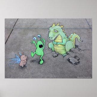 Aquí sea dragones posters