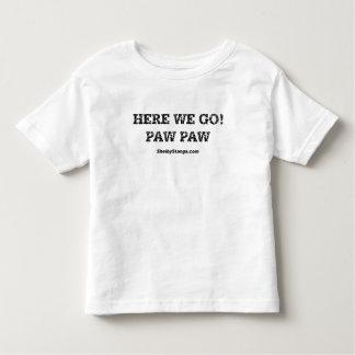 Aquí vamos camiseta del niño poleras