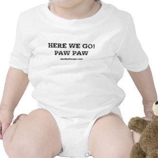 Aquí vamos enredadera del niño trajes de bebé