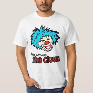 """""""aquí viene camiseta del payaso"""" remeras"""