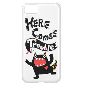 Aquí viene el gato del iPhone 5 del deux del probl