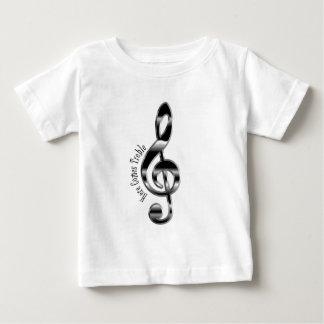 Aquí viene la camiseta aguda del bebé playera para bebé