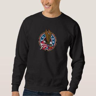 Aquí viene la libertad Eagle calvo americano Sudadera Con Capucha