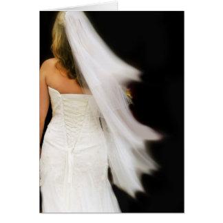 Aquí viene la novia tarjeta de felicitación