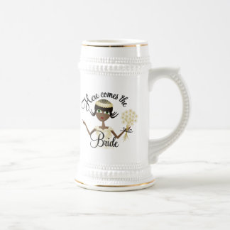 Aquí viene la novia tazas de café