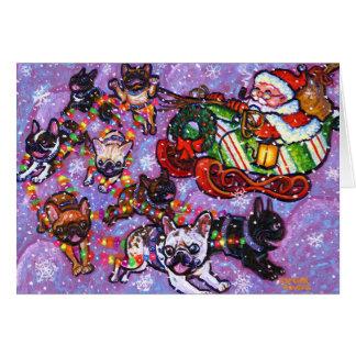 ¡Aquí vienen las patas de Santa Felicitacion