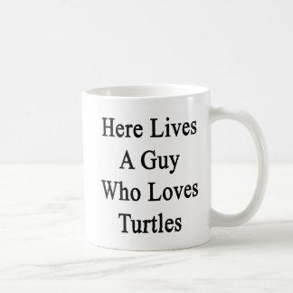 Aquí vive un individuo que ama tortugas taza